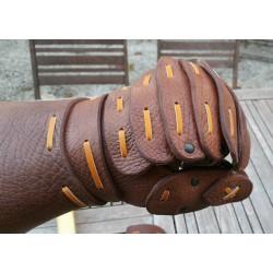 Mitons de combat viking en cuir