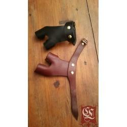 Protection de main d'archer. Cousue main avec boucle. gaucher ou droitier