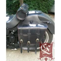 Sacoches cavalières en cuir pour moto