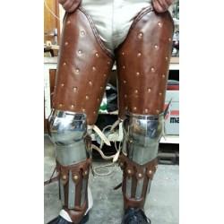 Jambes d'armure SUR MESURE cuir lamellaire